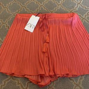 Zara coral shorts